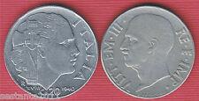 I9, ITALIA ITALY , 20 CENTESIMI IMPERO 1940 MAGNETICO , KM 75b, BB / VF