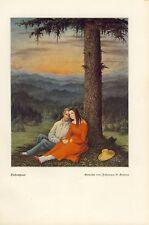 Liebespaar Paar Idylle Idyl Liebe Druck 1939 (N)