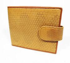 New Genuine Leather Sea Snake Men Bi-fold Strap Wallet.