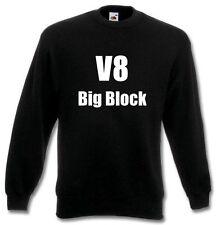 Pullover - V8 Big Block (Sweatshirt / Oldschool / Rockabilly / Hot Rod)