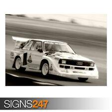 AUDI S1 QUATTRO RALLY CAR 1 (AB448) CAR POSTER - Poster Print Art A0 A1 A2 A3