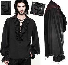 Chemise gothique steampunk dandy vintage rétro jabot laçage Punkrave Homme N
