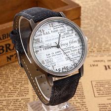 Reloj de cuarzo hombre Casual resistente al agua, resistente a los golpes Imitación Cuero Unisex