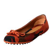 Car Shoe by Prada Women's Canvas Ballet Flats Driving Shoes Sz 6.5 7