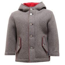 3030V giaccone felpa bimbo NANAN grigio/rosso jacket coat kid