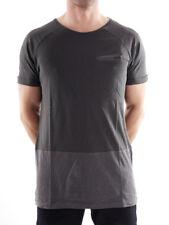 Brunotti T-Shirt Oberteil Freizeitshirt Rundhals grau Tasche Antovani