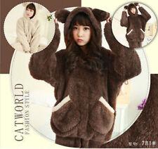 Adult Cute  Pajamas Bear Kigurumi Cosplay Costume Animal Sleepwear