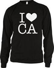 I Heart Love CA California Pride Cali Republic Golden State Long Sleeve Thermal