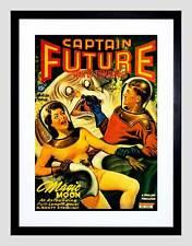 Comic book cover captain future homme demain sci fi monster art imprimé B12X12100