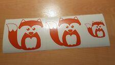 3 stickers autocollant renard fox deco ipad porte fenêtre chambre voiture