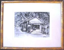 Georges Maximilien Petit original charcoal on paper titled 'Eumundi'. Australia