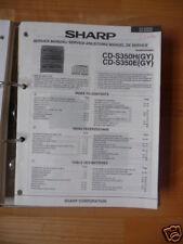 Service-Manual Sharp CD-S350H/E HiFi-System,ORIGINAL