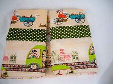 Kids Primavera coche tejido de algodón Cortina bolso bolso Tapicería De Lona Impresa Tela