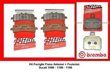 07BB3793 + 07BB2035 Pasticche Freno Brembo Ant + Post Ducati 1098 1198 1199