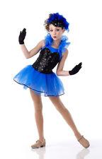 Show Business Dance Costume BLUE Ballet Tutu w/Gloves Tap Clearance CS,CXL,AS,AL