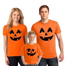 Pumpkin face T-shirt Jack o Lantern Halloween Costume family Shirts Mens Kids