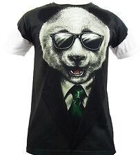 Oso Panda Sublimación Full impresión frontal Camiseta / Top / wild/funny / - todos Los Tamaños