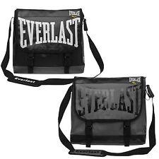 EVERLAST PVC Messenger Corriere Laptop Shoulder Bag Satchel NERO o GRIGIO BOXING