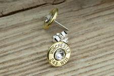 Custom Sterling Silver 243 Brass Bullet Earring Studs Elegant Trendy FREE SHIP