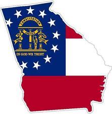 Georgia State Flag Vinyl Sticker Decal GA outline silhouette Southern