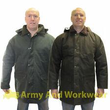 CERA Giacca Imbottita Oilskin cappotto pesante umido uomo caccia pesca passeggio