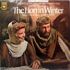 The LION IN WINTER Soundtrack  LP 1960's John Barry / Hepburn / O'Toole
