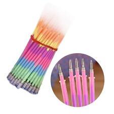 20 Pcs Multi Color Rainbow Highlighters Gel Pens pen paint Refills fluoresc Q3M3
