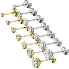 333er dorado o 925er Sterling plata cáliz pendientes circonita aretes Top