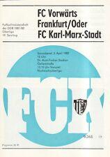 OL 81/82  FC Karl-Marx-Stadt - Vorwärts Frankfurt/O.