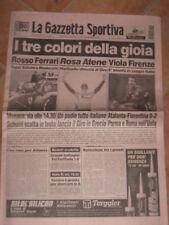 GAZZETTA DELLO SPORT FIORENTINA TRIONFO COPPA ITALIA 96