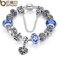 5PCS silver hallmarked Single Core Murano Glass Beads fit Charms Bracelet AOC032