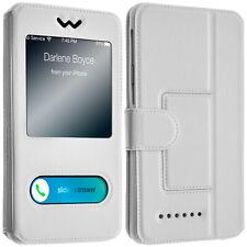 Étui Smartphones : Longueur entre 152 mm et 162 mm et double fenêtre - Blanc