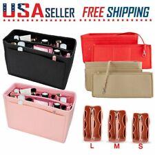 Multi Pocket  Insert Bag Handbag Organizer Felt Fabric Purse Liner Large -S/M/L