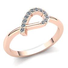 0.15ct Round Cut Diamond Ladies Twisted Loop Fancy Wedding Band 10K Gold