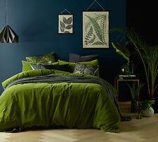 Vintage Design Mossy Road Cotton Velvet Quilt Doona Cover Set QUEEN KING Super K