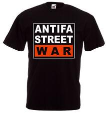 ANTIFA STREET WAR T-Shirt, schwarz