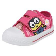 Niña Rosa Zapatos Lona Ocasionales Infantil Zapatillas de bebé Minions Bob Flor