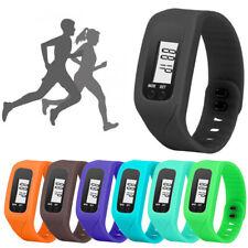 Mens Womens Led Digital Step Walk Wristwatch Quartz Watch Sports Run Waterproof