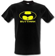 BUTTMAN BATMAN LOGO  Parody Comedy Rude Heavy Cotton t-shirt SIZES S- XXL