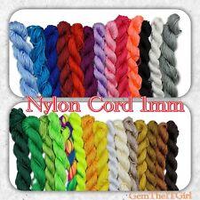 Kumihimo Shamballa Braided Nylon Cord Thread 1mm Approx 24-28 Meters