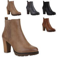 Gef tterte Chelsea Boots Damen Block Absatz Stiefeletten 812569 Hot