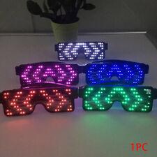 LED Glasses Light-Up-Glow Flashing Sunglasses-Eyewear Nightclub Party 4 Function
