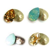 SWAROVSKI Crystal Element  4320 TEARDROP STONE Variable Color Size