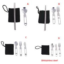 1set Portable Travel Picnic Foldable Cutlery Set Spoon Fork Knife Chopsticks BGG