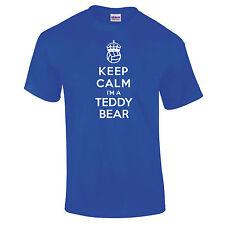 Keep Calm I'm A Teddy Bear Blue Supporter Scottish Football Club T-Shirt S-5XL