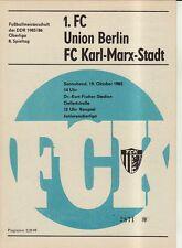 OL 85/86 FC Karl-Marx-Stadt - 1. FC Union Berlin