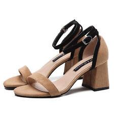 sabot chaussons 7 cm élégant gris talon carré sandales comme cuir 9958 LiKFVEUqlV