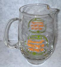 Official Member Smirnoff Brunch mini mixer pitcher circa 1960 glass Vintage new