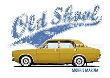 MORRIS MARINA t-shirt. OLD SKOOL. CLASSIC CAR. MODIFIED. BRITISH.
