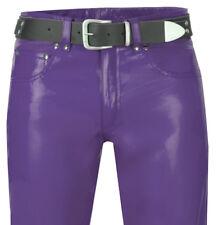 Lederjeans 501-st. violett lila Lederhose leather pants purple trousers new Cuir